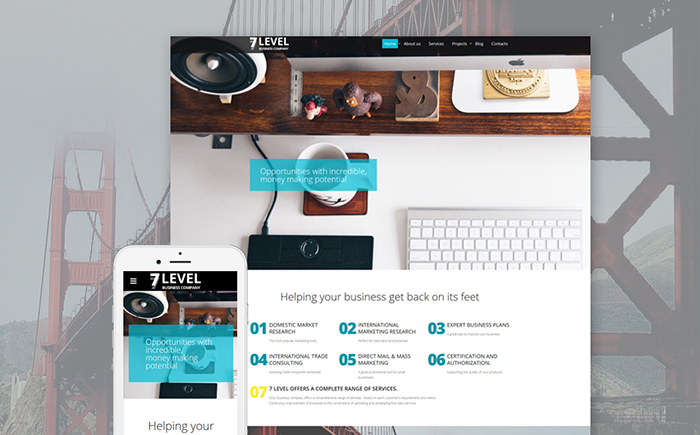 Business firm site template