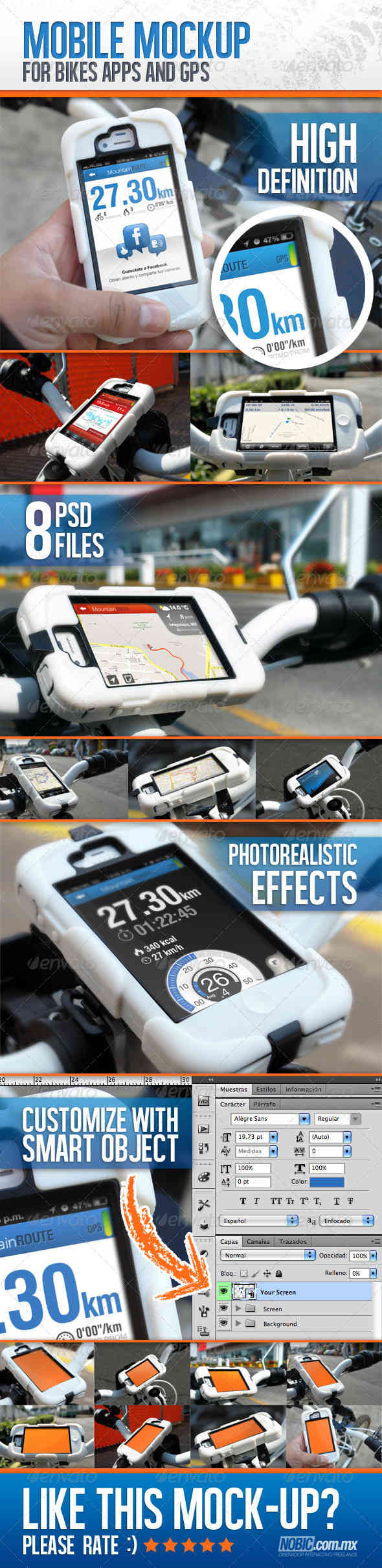 Bike Mockup for Apps and GPS Devices