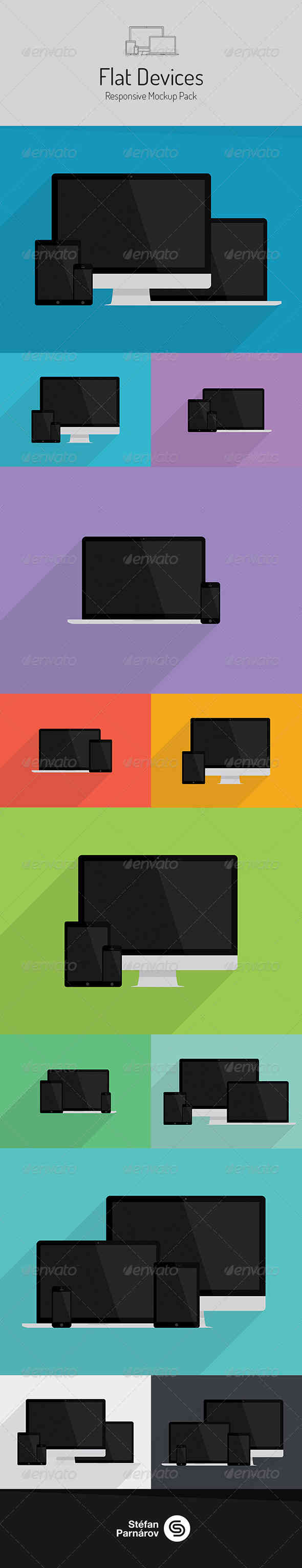Flat Devices - Mock-ups