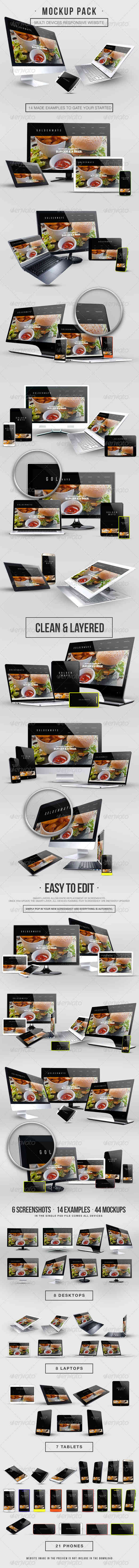 Multi Devices Responsive Website Mockup Pack