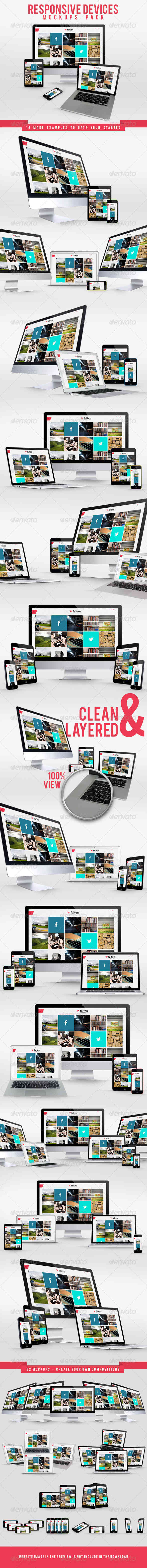 Responsive Devices Mockups Pack