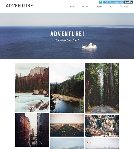 adventure masonry tumblr theme