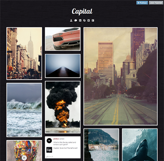 capital masonry tumblr theme