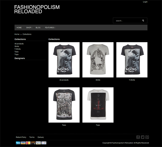 fashionopolism dark shopify theme