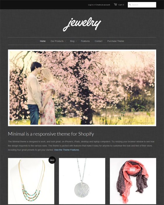 jewelry free minimal shopify theme