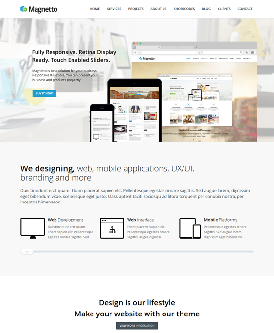 magnetto parallax drupal theme