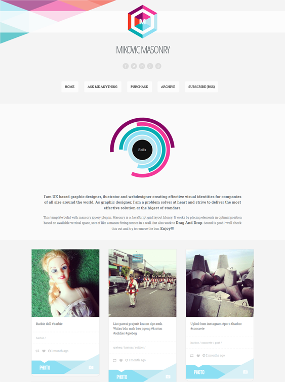 mikovic masonry tumblr theme