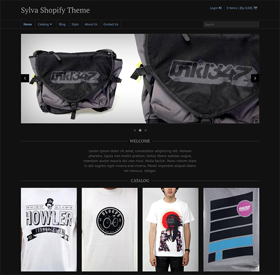 sylva dark shopify theme