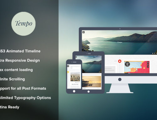 WordPress Theme of the Week: Tempo Responsive Timeline
