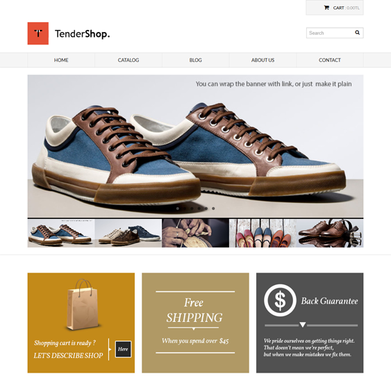 tendershop minimal shopify theme