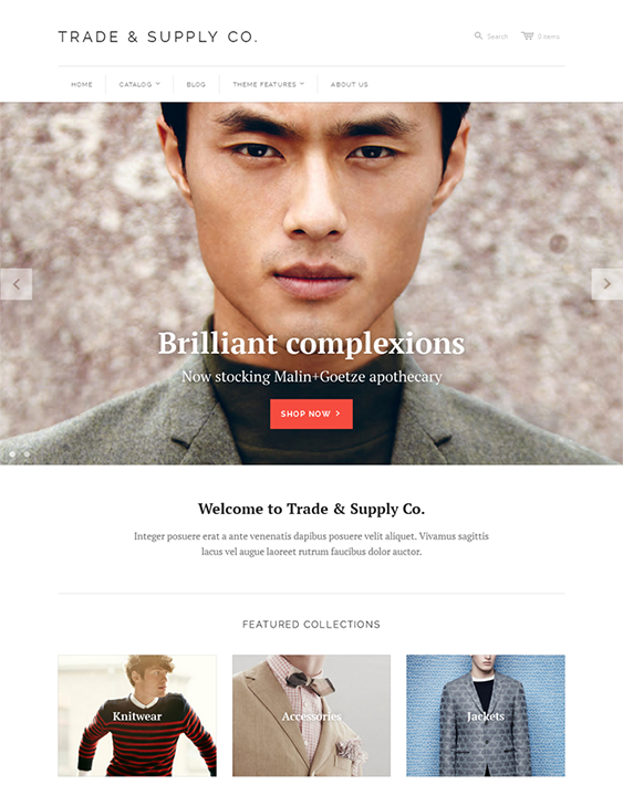 tradesupply minimal shopify theme