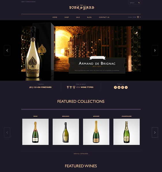 wineyard dark shopify theme