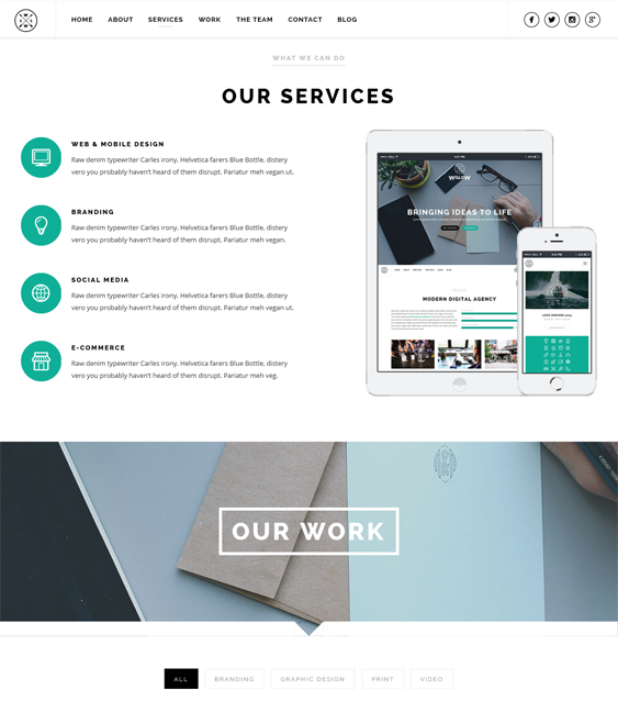 wordpress subcategory template - 13 fresh one page wordpress templates buildify