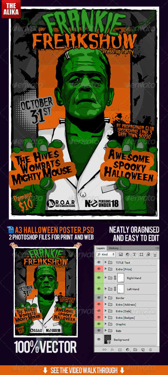 A3 Halloween Event Poster