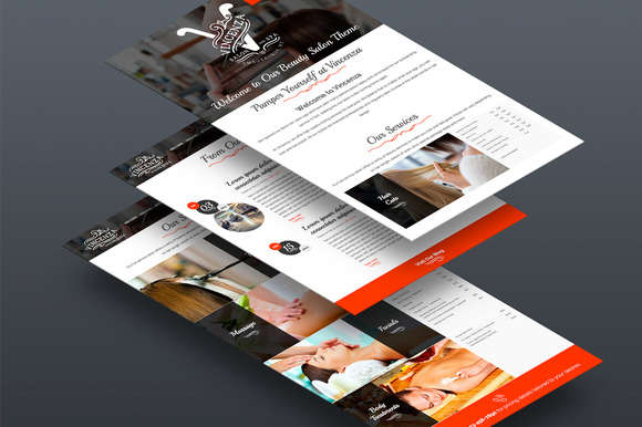Beauty / Hair Salon Bootstrap Theme