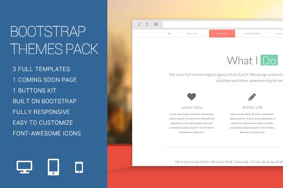 Bootstrap Themes Pack