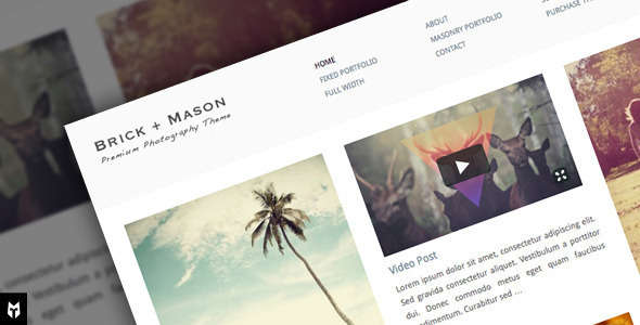 Brick + Mason: Premium Photography and Blog Theme