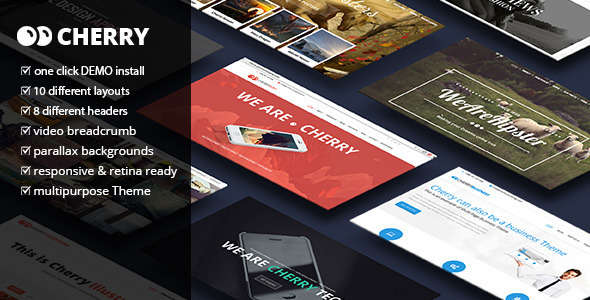 Cherry - A Multipurpose One & Multi Page Theme