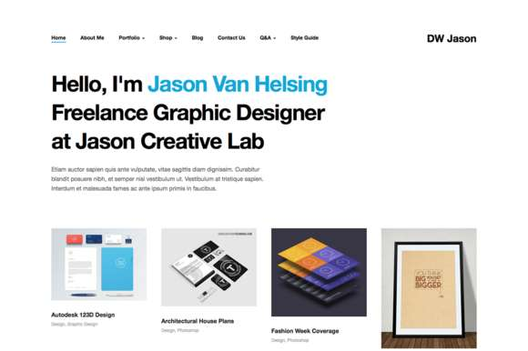 DW Jason - Portfolio WordPress Theme