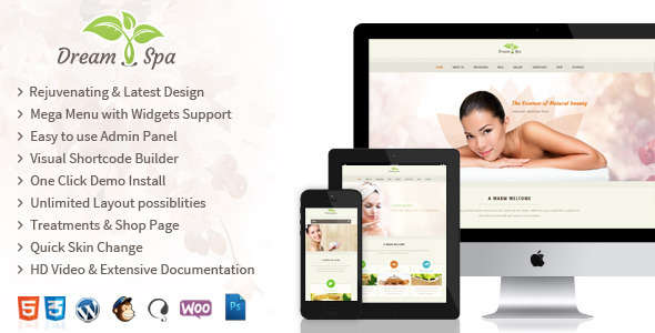 Dream Spa - Responsive Beauty Salon WordPress Theme
