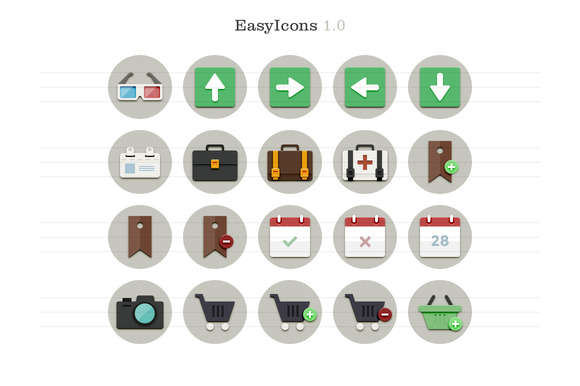 EasyIcons 1.0 - Flat Vector Icons
