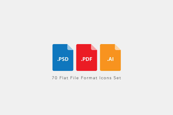 Flat File Format Icons Set - Vector