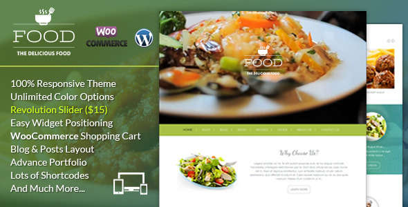 Food A Delicious WordPress Theme
