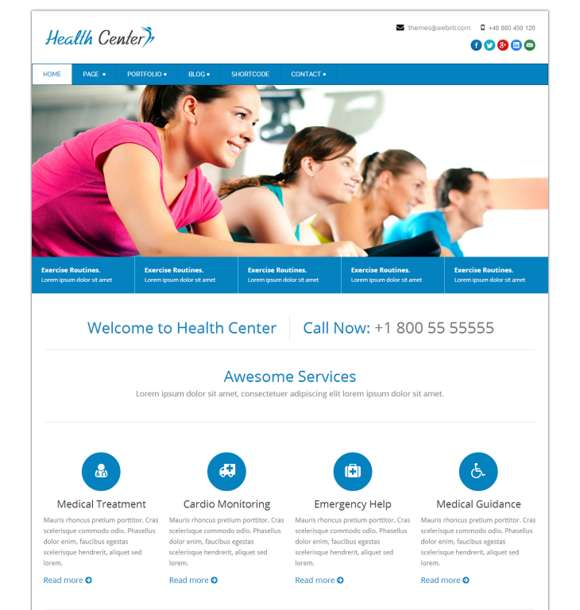 Health Center Responsive Html Theme