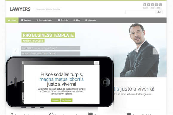Law firm responsive theme
