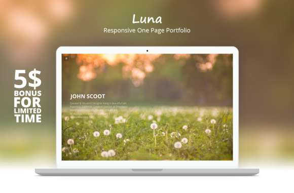 Luna - Responsive One Page Template
