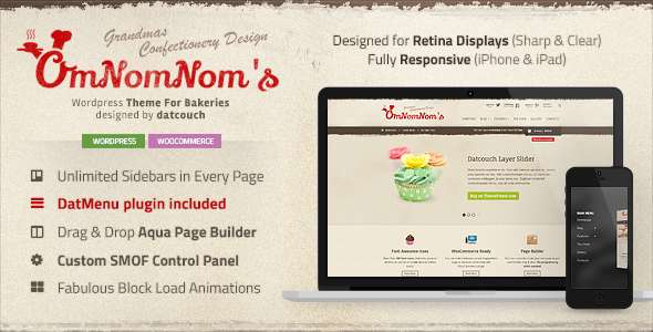 Omnomnom's - Premium theme for Bakeries