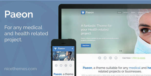 Paeon - Medical WordPress Theme