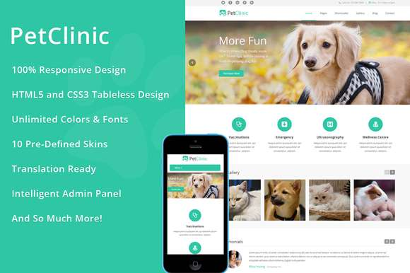 PetClinic - WordPress Theme