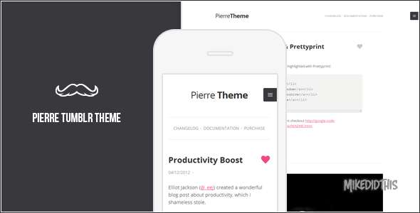 Pierre - A Super Clean Tumblr Theme
