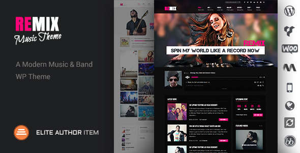 Remix - Music-Band-Club-Party-Event WP Theme