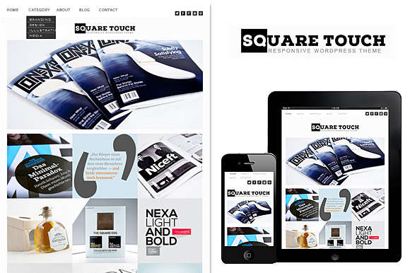 Square Touch Responsive WordPress