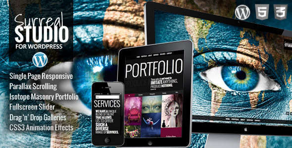 Surreal - One Page Parallax WordPress Theme