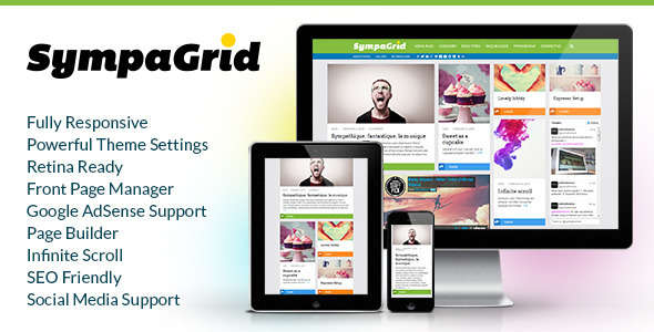 SympaGrid - Responsive Grid WordPress Theme
