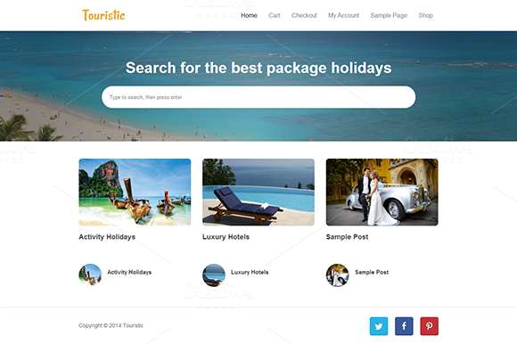 Touristic - WP Travel Blog Template