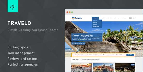 Travelo - Responsive Booking WordPress Theme