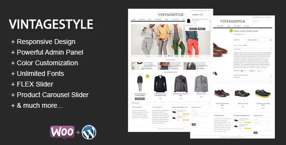 VintageStyle - Responsive E-commerce Theme