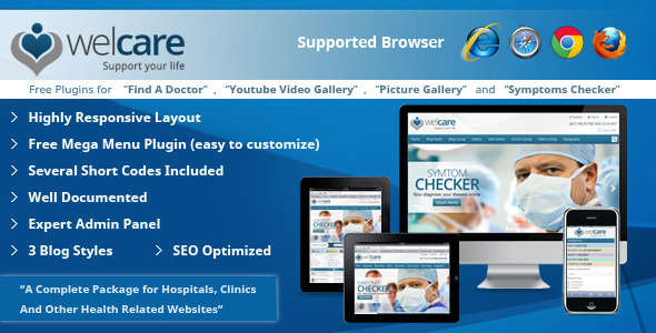 Welcare Responsive Medical WordPress Theme