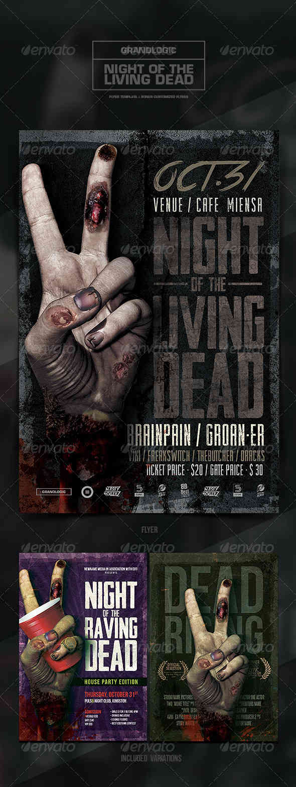 Zombie Hand Flyer/Poster