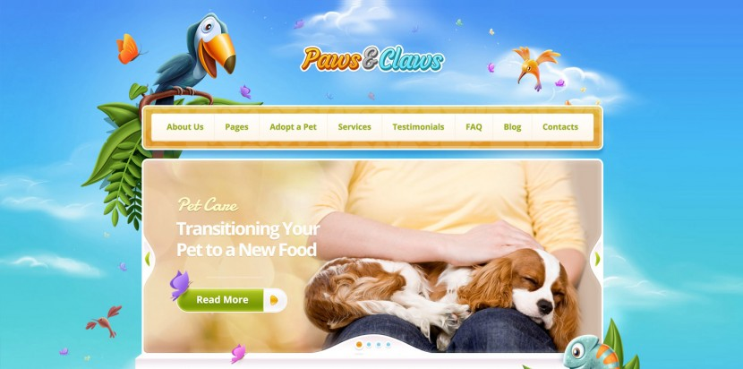ThemeFuse Releases 'Paws & Claws' WordPress Theme