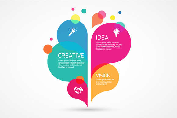 Abstract colorful Infographic