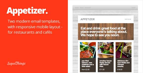 Appetizer - responsive html email template