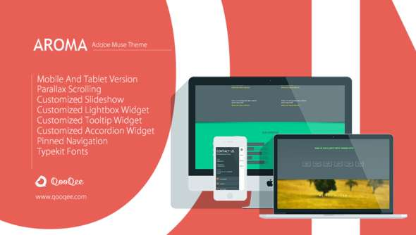 Aroma v1.1 | One Page Muse Theme