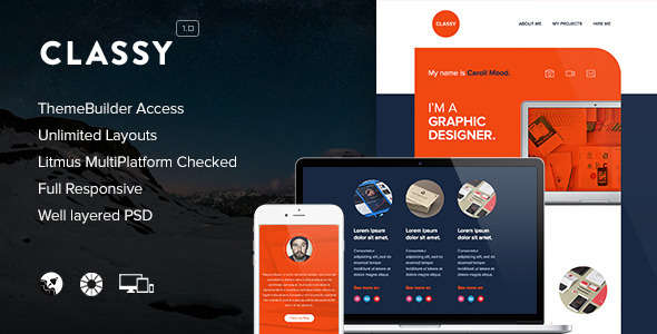 Classy - Responsive Email + Themebuilder Access