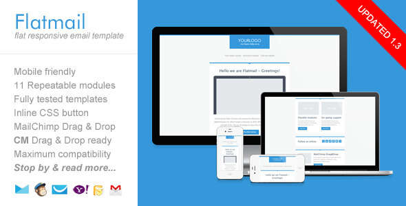 Flatmail, Flat Responsive Email Template