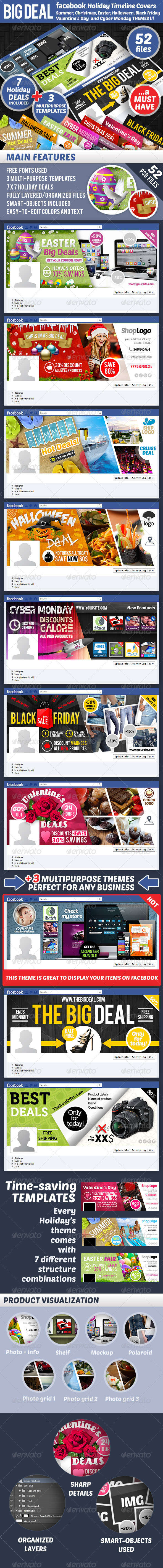 Holiday Big Deal Facebook Timeline Cover Creator